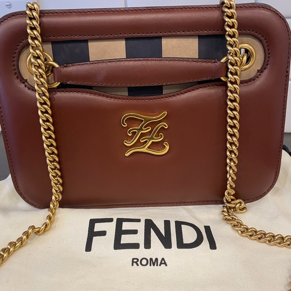 Fendi Karligraphy pocket shoulder bag